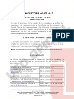 Convocatoria 002 - 2017 Semillero de Investigacion Copia