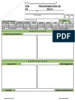 Programacion de Aula PRIMARIA Editable