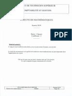 Bts Maths 2019