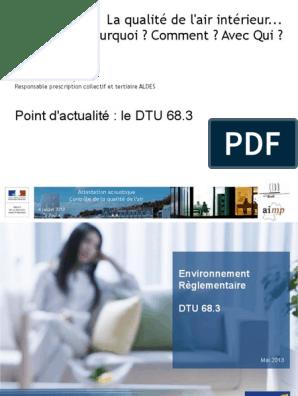 DTU 68.3 TÉLÉCHARGER