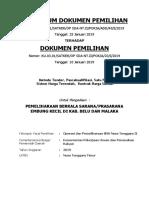 Perubahan Dokumen Lelang Malaka