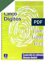 Cuadernillo de Estímulos Test Cinco Digitos