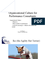 Organizational Culture for Performance Consultants