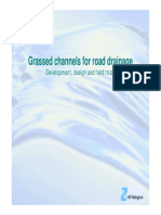 Grass Channels for Road Drainage