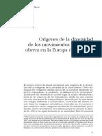 Michael Mann -  Orígenes de la diversidad de los movimientos de la clase obrera en la Europa del siglo XX.