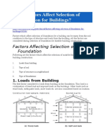Factors Affect Selection of Foundation for Buildings
