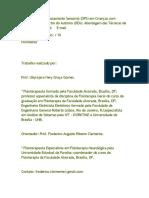 Desordem do Processamento Sensorial (DPS) em Crianças com Desordem do Espectro do Autismo (DEA) Abordagem das Técnicas de Integração Sensorial.docx