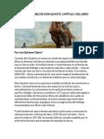 El Sueño Imposible de Don Quijote