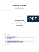 Numerical Methods Solved Examples