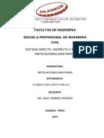 Sistema Directo Indirecto y Mixto de Instalaciones Sanitarias