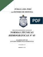 Elaboracion de Estudios Hidro-oceanograficos