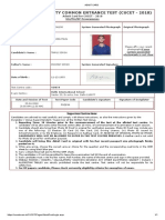 Admit Card Madras