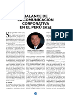 Lectura 5 - Balance de La Comunicacion Corporativa en El Peru