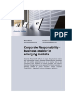 Corporate Responsibility - business enabler in emerging markets (Detecon Executive Briefing)