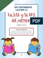 Leccion 13 La Sal y La Luz Del Mundo