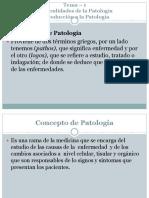 Patologia Tema 1- Introduccion a La Patologia 2019