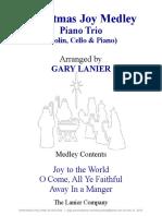 CHRISTMAS JOY MEDLEY Trio Violin Cello Piano With Parts