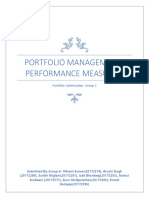 The various portfolio performance measure.docx