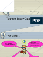 Tourism Lecture Essay Week 4