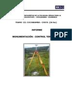 Informe Monumentación y Control Terrestre Tramo III