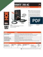 Spec Sheet - Stickmate 205 AC