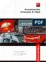 Brocure Hijet Charade g200 Accessories (English)