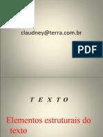 Elementos estruturais do texto COESÃO E COERENCIA