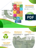 Triptico Programa Sustentable