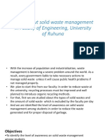 Study About Solid Waste Management in Faculty Of