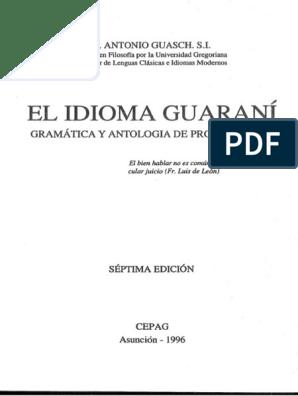 Guaschel Idioma Guaranípdf Vocal Verbo