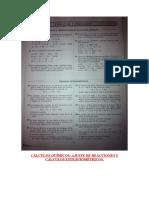 Cálculos Químicos 1ª Parte