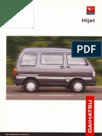 DAihatsu hijet brochure CB engine