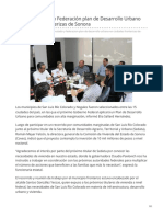10-11-2018 Aplicarán Estado y Federación plan de Desarrollo Urbano en ciudades fronterizas de Sonora- Canal Sonora