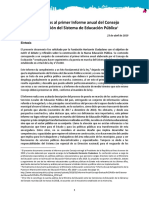 Comentarios al Informe Anual (2018) del Consejo de Evaluación del Sistema de Educación Pública