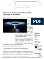 A New Theory on Time Indicates Present and Future Exist Simultaneously - Physics-Astronomy2