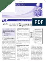 Comp Pago No Ameritan Registro en El Reg Compras - Mayo 2009