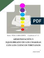Arminizacion y regulacion de Chakras Cuencos
