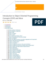 Introduction to Object Oriented Programming Concepts (OOP) and More