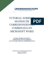 TUTORIAL SOBRE EL MANEJO DE CORRESPONDENCIA COMBINADA EN MICROSOFT WORD.docx