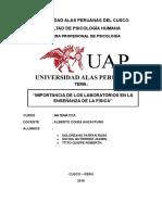 IMPORTANCIA DEL LABORATORIO  DE FISICA.docx