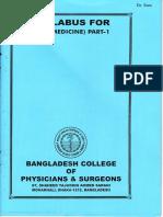 FCPS Part-1 Syllabus Medicine