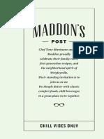 Maddon's Post Drink Menu