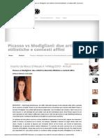 Picasso vs Modigliani_ Due Artisti Fra Diversità Stilistiche e Contesti Affini _ Scenario
