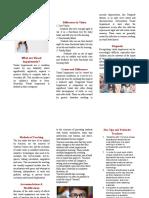 visual impairments brochure