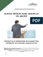 Propuestas de Expresiones en Guarani