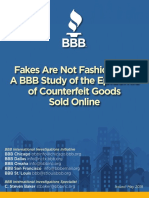 BBB study of counterfeit goods sold online