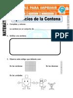 Ficha de Ejercicios de La Centena Para Segundo de Primaria