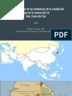 Tendencias de calidad del agua en Corea del Sur