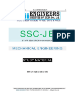 SSC JE Mechanical Study Material Machine Design