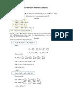 Trabajo Algebra Lineal